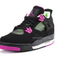 Air Jordan 4 GS Black/Neon-Pink