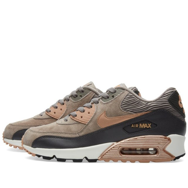 "Nike WMNS Air Max 90 ""Iron and Metallic Red Bronze"""