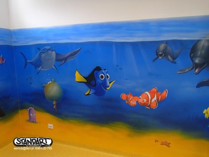 Amigodental artystyczne malowanie wnętrz, ściany dla dzieci, pokój marzeń Łódź graffiti
