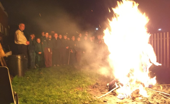 St Andrews Scouts celebrate Bonfire Night in Bedford