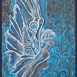 Ангел<br />40х70, картон, акрил, 2009г.