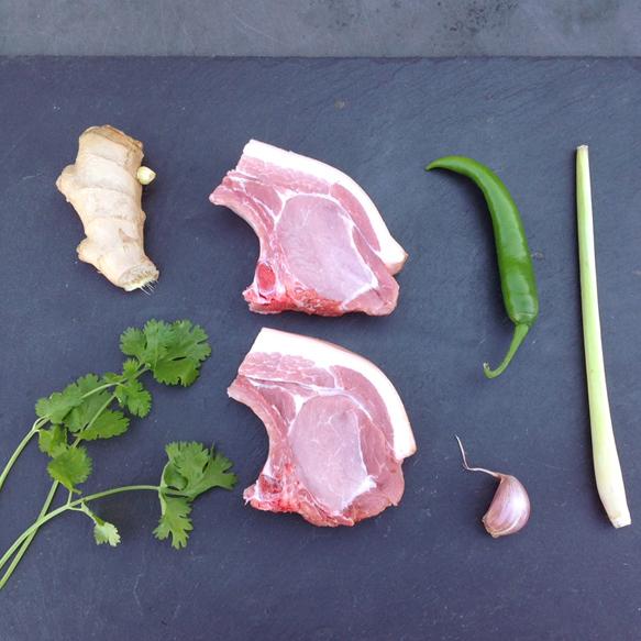 Thai Green Curry Marinated Pork Chops