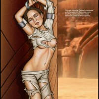 Padme got her clothes damaged too much - no wonder the crowd on Geonosis arena is so turned on!