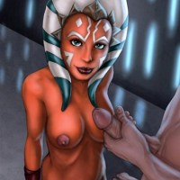 Ahsoka Tano is going to be covered with sperm.