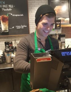 Radiant Zack Showing Off New Dress Code Anor Look At New Starbucks Dress Starbucks Dress Code Pdf Starbucks Dress Code Policy
