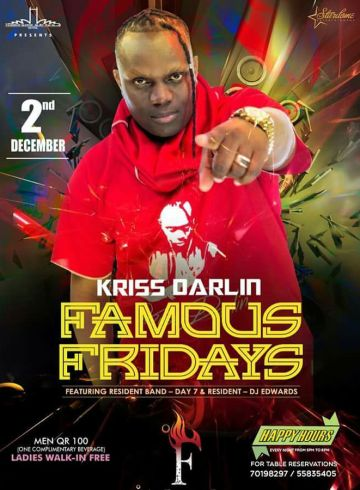 Qatar Famous Fridays With Kriss Darlin