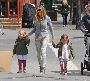 Sarah Jessica Parker with daughters Tabitha and Marion
