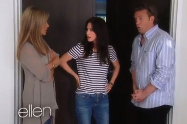Jennifer Aniston, Courteney Cox & Matthew Perry on 'Ellen'