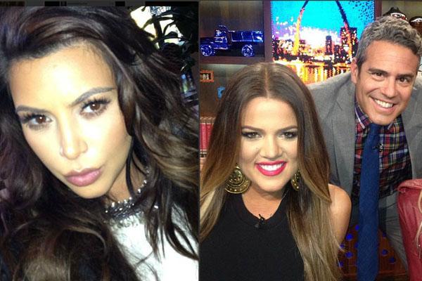 Kim Kardashian; Khloe Kardashian with Andy Cohen