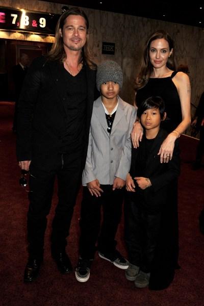 Angelina Jolie, Brad Pitt & Family