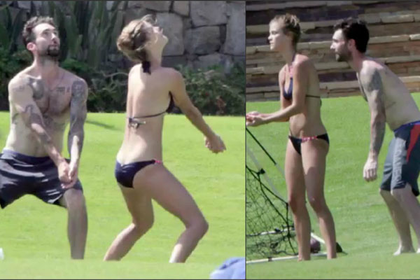 Adam Levine Hits Mexico With New, Model Girlfriend Nina ...