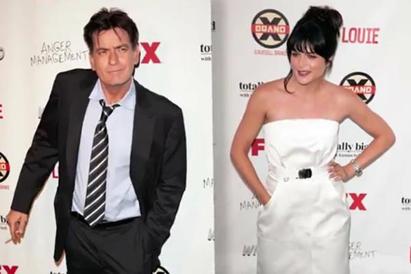 Charlie Sheen & Selma Blair