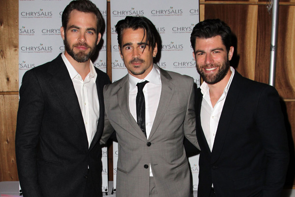 Chris Pine, Colin Farrell & Max Greenfield