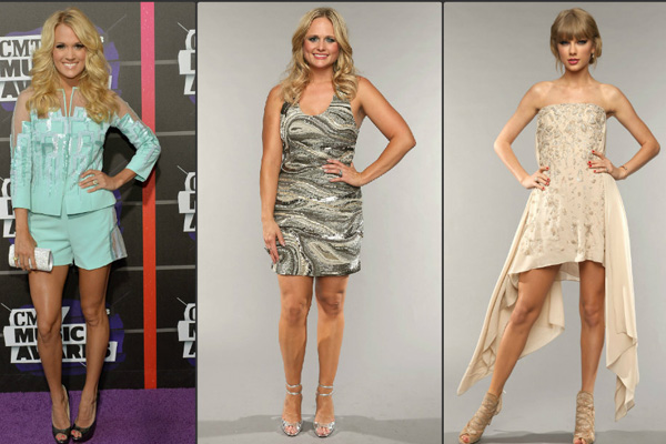 Carrie Underwood, Miranda Lambert, Taylor Swift