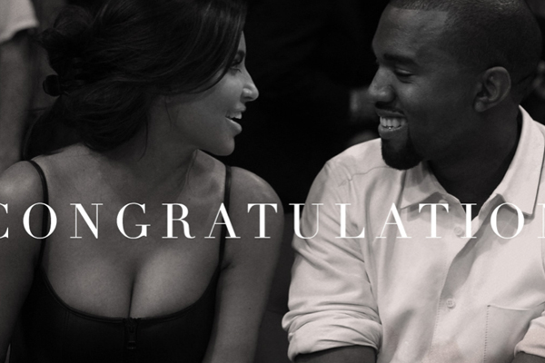 Kim and Kanye congratulated by Beyonce