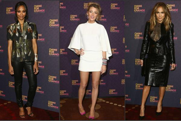 Zoe Saldana, Blake Lively & Jennifer Lopez