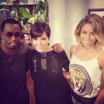 Diddy, Kris Jenner & ciara