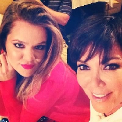 Khloe Kardashian& Kris Jenner