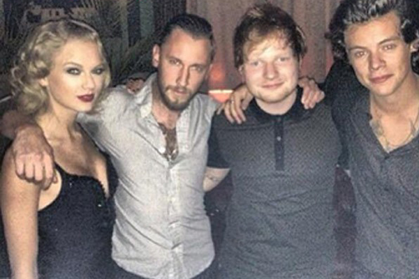 Taylor Swift, DJ Spiky Phil, Ed Sheeran & Harry Styles
