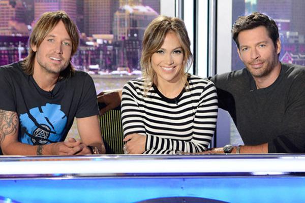 Keith Urban, Jennifer Lopez & Harry Connick Jr.