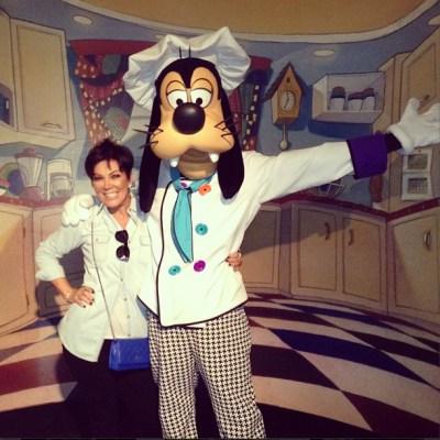 Kris Jenner & Goofy