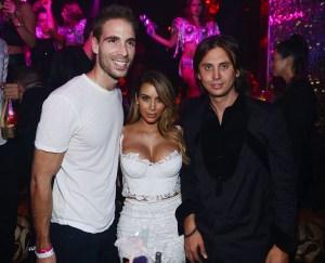 Simon Huck, Kim Kardashian & Johnathan Cheban