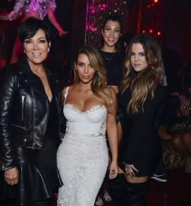 Kris Jenner, Kim Kardashian, Kourtney Kardashian & Khloe Kardashian