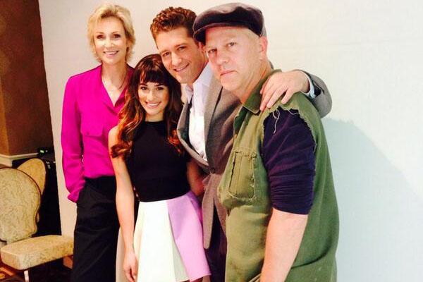 Jane Lynch, Lea Michele, Matthew Morrison & Ryan Murphy