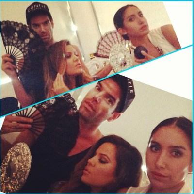 Khloe Kardashian, Rob Scheppy & Jen Atkin