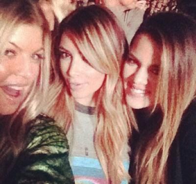 Fergie, Kim Kardashian & Khloe Kardashian