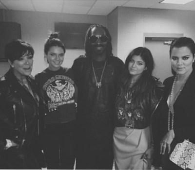 Kris Jenner, Kendall Jenner, Snoop Dogg, Kylie Jenner, Khloe Kardashian