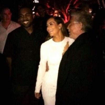 Kanye West, Kim Kardashian & Roberto Cavalli