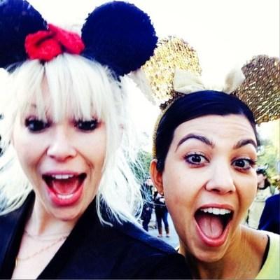 Kourtney Kardashian & friend