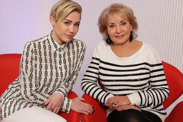 Miley Cyrus & Barbara Walters