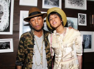 Pharrell Williams & Helen Lasichanh
