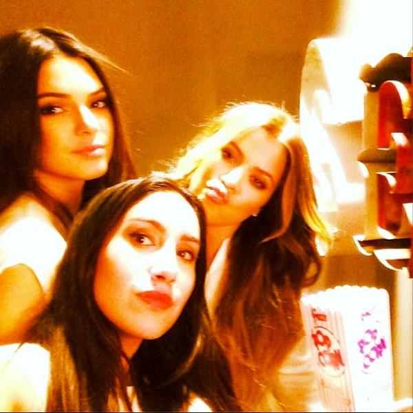 Kendall Jenner, Jen Atkin & Khloe Kardashian