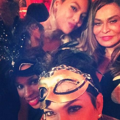 Jennifer Hudson, Beyonce, Kris Jenner & Tina Knokwles
