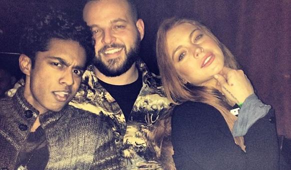 Rajiv Surendra, Daniel Franzese & Lindsay Lohan