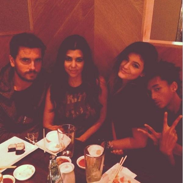 Scott Disick, Kourtney Kardashian, Kylie Jenner & Jaden Smith