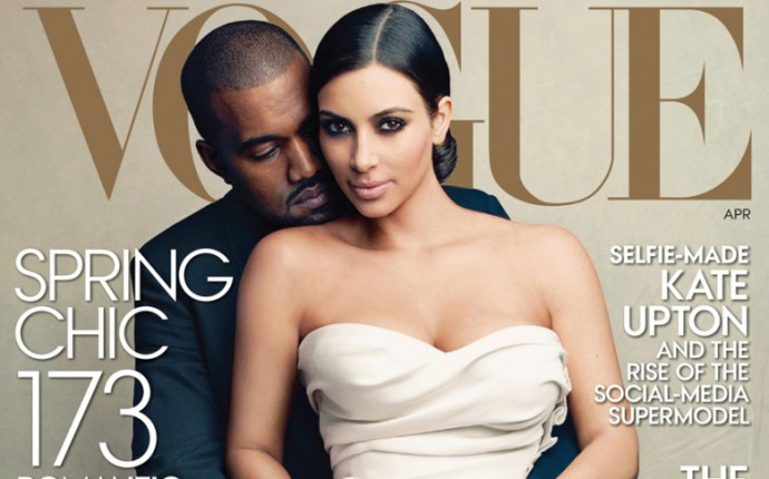 kim and kanye in vogue