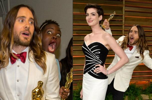 Jared Leto, Lupita Nyong'o & Anne Hathaway