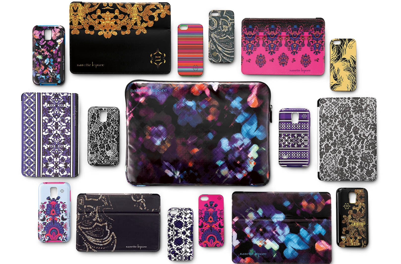 Pieces from Nanette Lepore's new line of Best Buy tech accessories