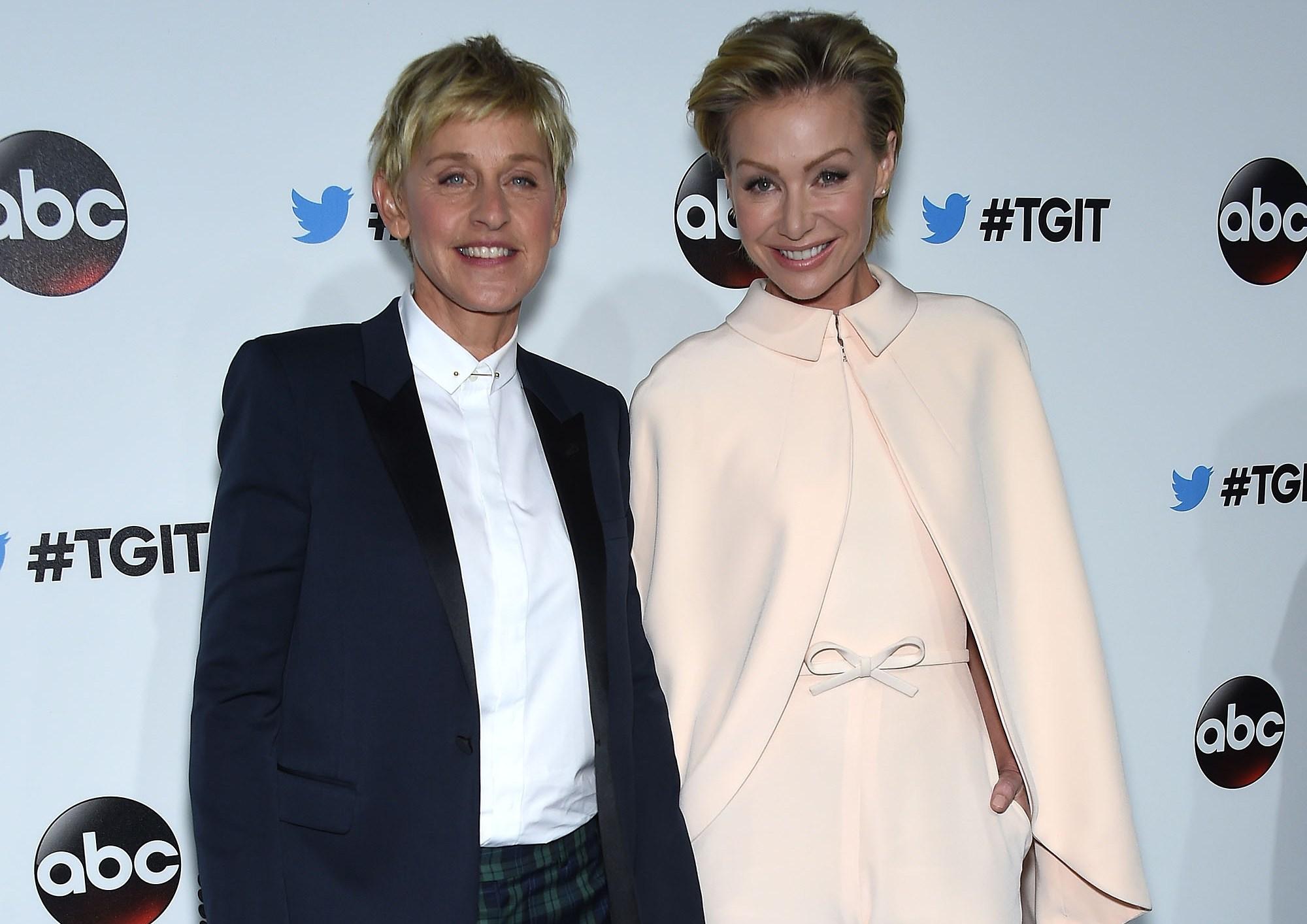 Ellen DeGeneres, Portia de Rossi Fight