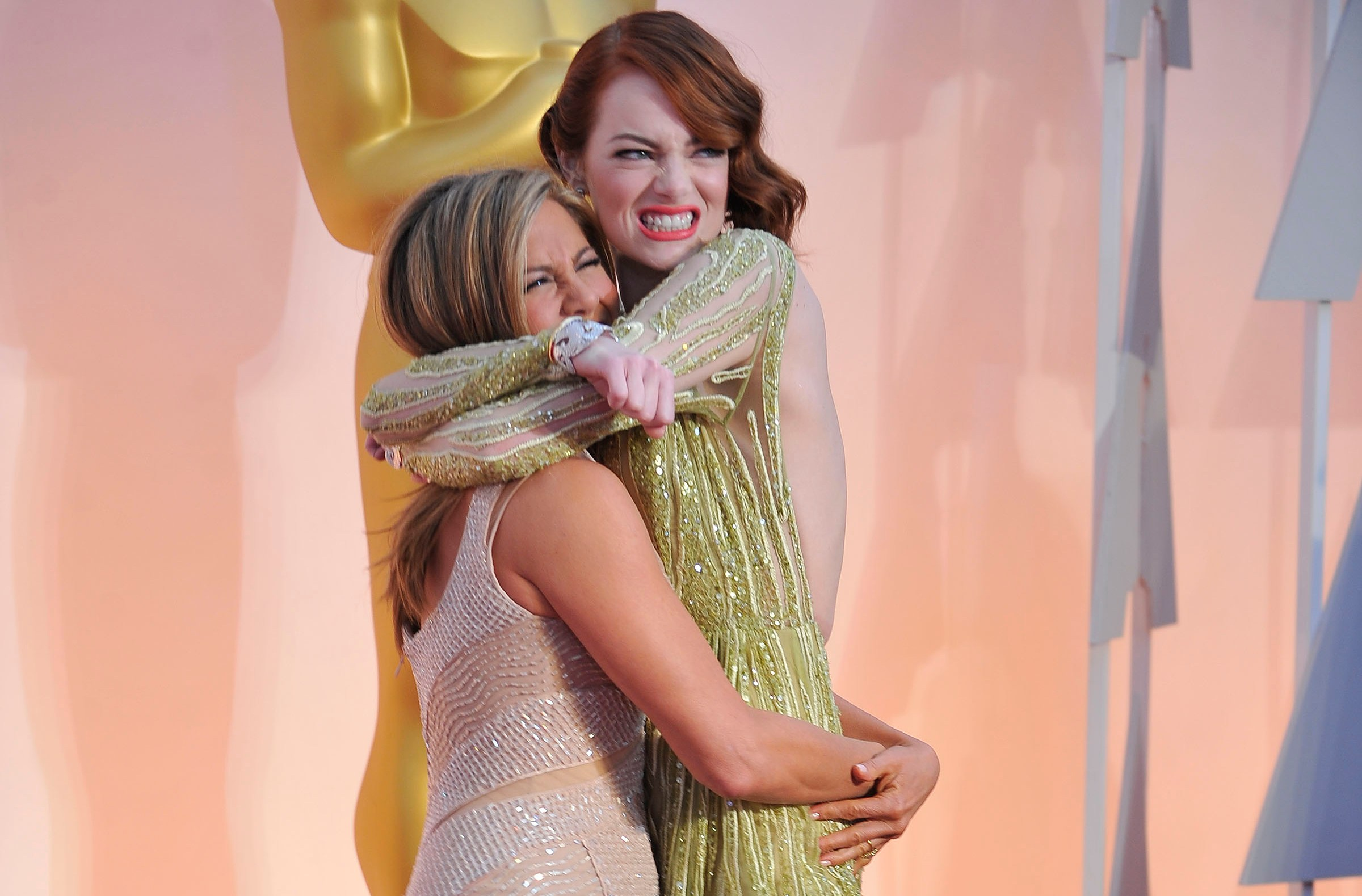 Jennifer Aniston, Emma Stone Oscars