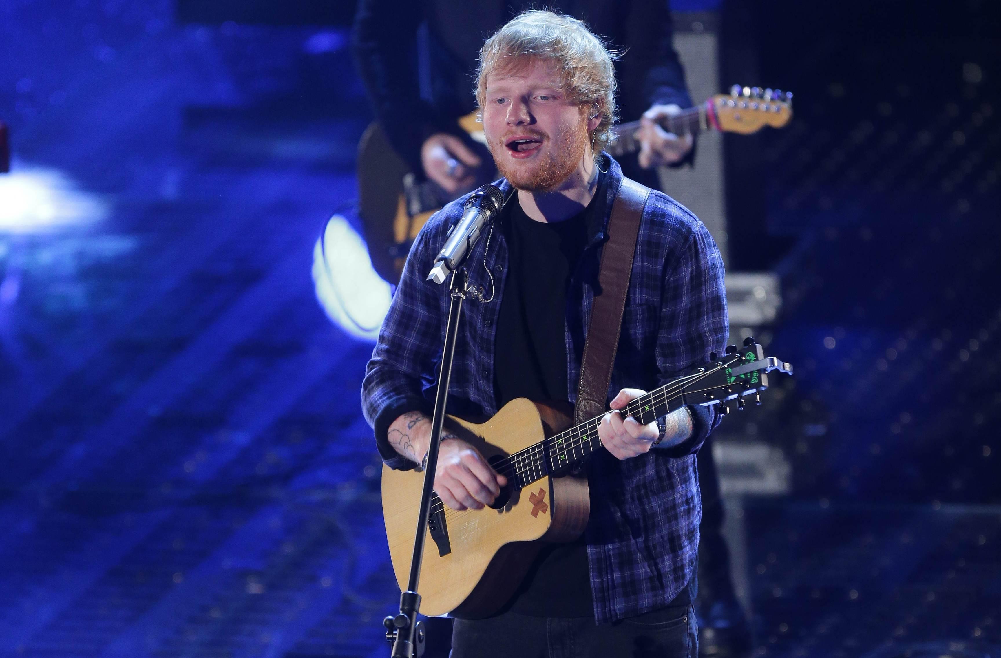 INF - Ed Sheeran at the Sanremo Festival