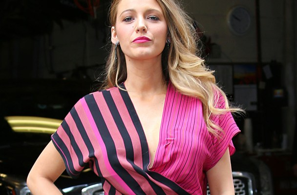 Blake Lively stuns in pink outside of the 'Live with Kelly and Michael' studios in NYC