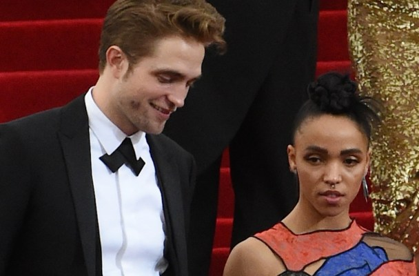 Robert Pattinson and FKA Twigs leaving the 2015 Met Gala