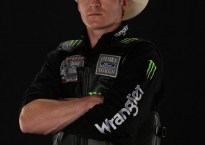 Reese Cates. Studio shots during the Billings Built Ford Tough series PBR. Photo by Andy Watson.