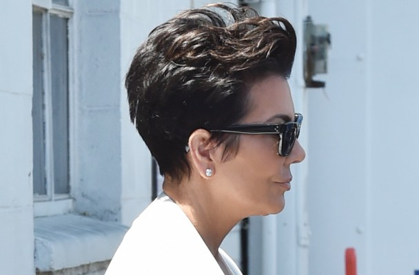 Kris Jenner leaves the studio in Los Angeles,California.