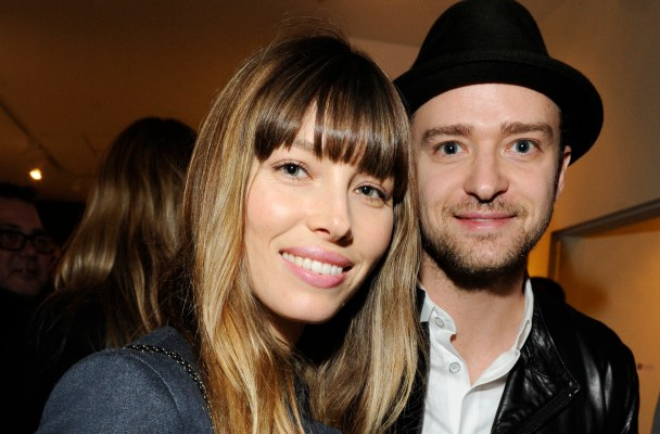 "LOS ANGELES, CA - FEBRUARY 07: (EXCLUSIVE COVERAGE) Jessica Biel and Justin Timberlake attend Darren LeGallo's ""Nothing You Don't Know"" Exhibition hosted by Trigg Ison Fine Art, Amy Adams and Justin Timberlake at Trigg Ison Fine Arts Gallery on February 7, 2013 in Los Angeles, California. (Photo by Amy Graves/WireImage)"
